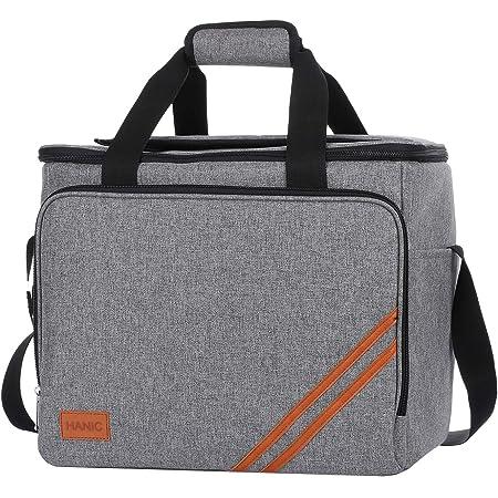 Large Portable Picnic//Travel//Office//School//Beach Ice Bag 33 Liters Foldable Picnic Cooler Bag One Shoulder Handbag Gray Furuix Cool Boxes for Food