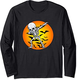 Halloween Dabbing Skeleton Costume Boys Men Girls Women Gift Long Sleeve T-Shirt