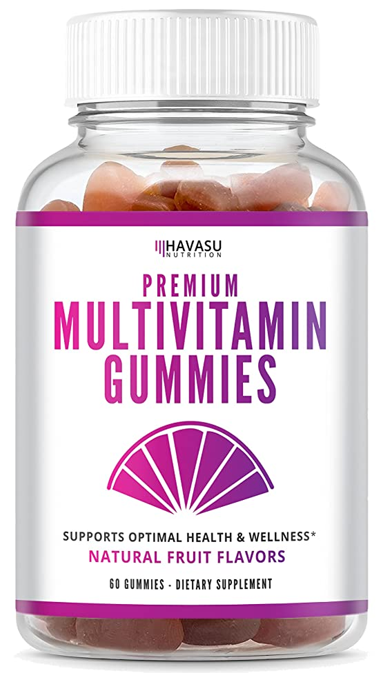 Multivitamin Gummies with Vitamin A, C, D3, E, B6, B12, and Zinc - Natural Support for Multiple Systems and Immune Health; Non-GMO; Gluten Free; 60 Count for Men & Women