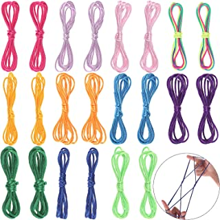 LOCOLO 22 Pieces Cats Cradle String Finger Game String Toy Supplies for Kids, Hand Game String 65 Inch Length, 11 Colors