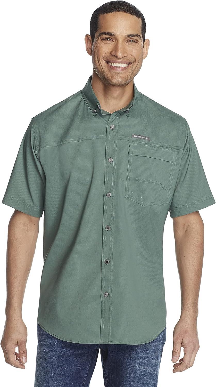 G.H. Bass Co. Regular store Men's Explorer Short Shirt Sleeve Mail order cheap Solid Fishing
