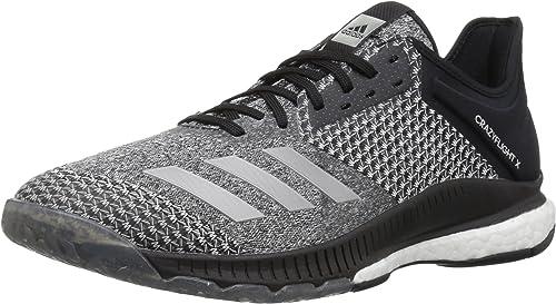 Adidas Wohommes Wohommes Wohommes Crazyflight X 2 Volleyball chaussures, noir argent Metallic blanc, 13 M US b8d