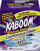 Kaboom Scrub Free! Toilet Bowl Cleaner System with 2 Refills