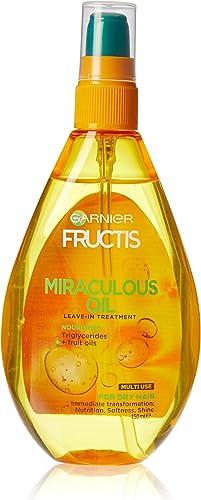 Garnier Fructis Miraculous Oil Leave-in Hair Treatment to Nourish Hair 150ml
