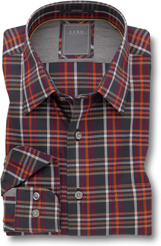 Enro Non-Iron Strickland Multi Check Big & Tall Sport Shirt