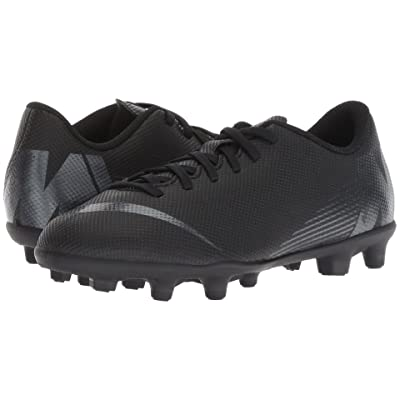 Nike Kids Vapor 12 Club MG Soccer (Toddler/Little Kid/Big Kid) (Black/Anthracite/Black/Light Crimson) Kids Shoes