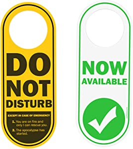EXPERODUCTS Do Not Disturb Door Hanger Double Sided Sign for Personal Room