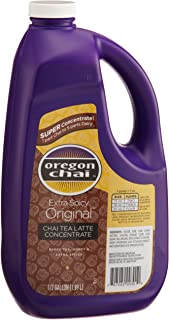 Oregon Chai Extra Spicy Original Chai Tea Latte Concentrate, 64-Ounce Jugs (Pack of 4)