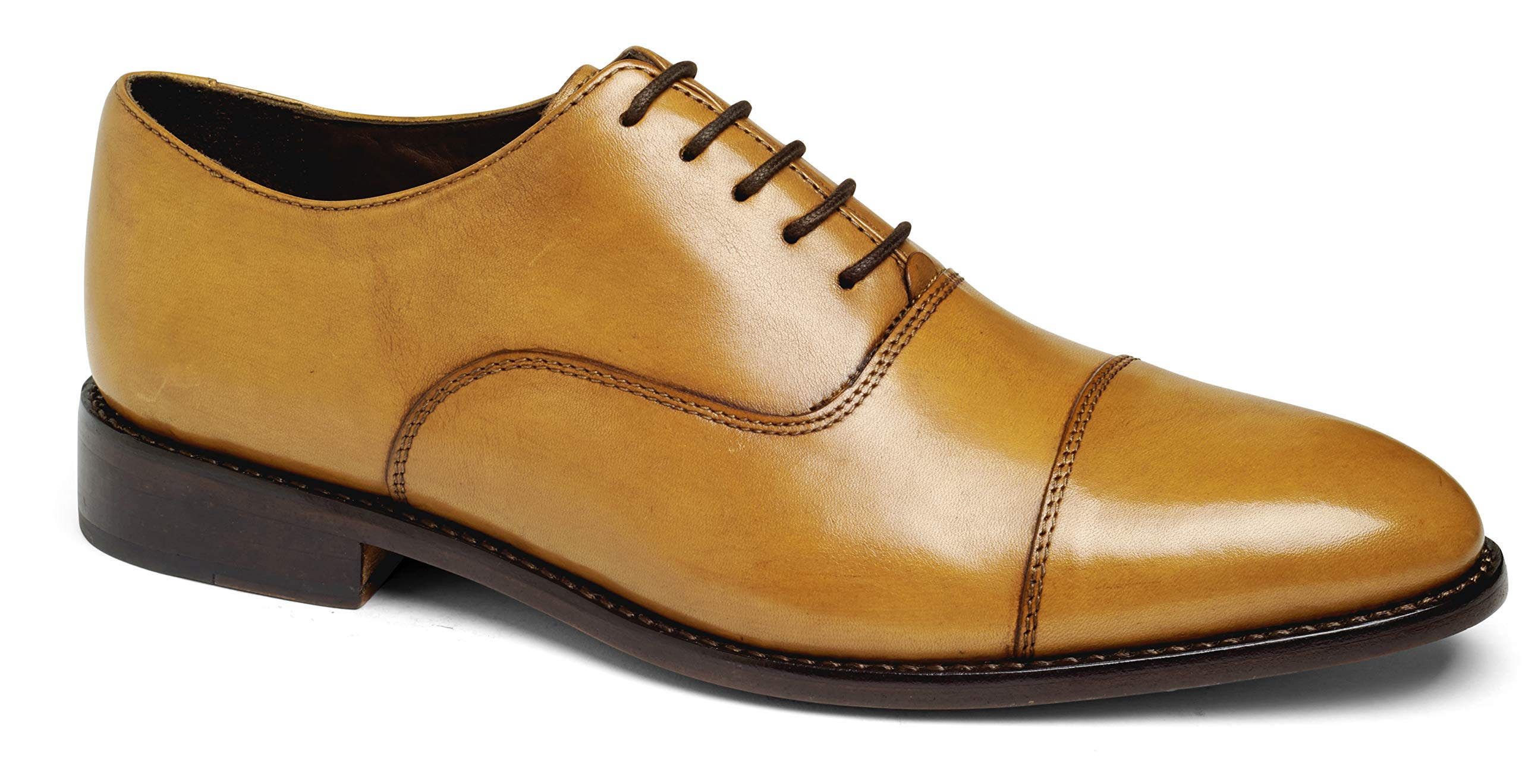 Anthony Veer Mens Dress Shoe Clinton Cap-Toe Oxford Full Grain Leather Goodyear Welted