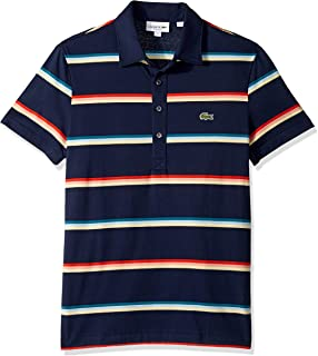 2edcbab18eb9 Lacoste Men's S/S Striped Light Jersey Pima Cotton Polo Regular Fit