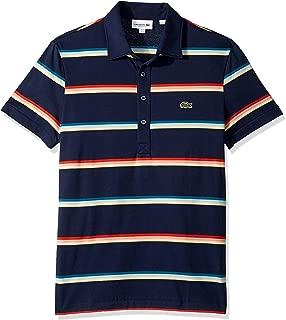 Men's S/S Striped Light Jersey Pima Cotton Polo Regular Fit