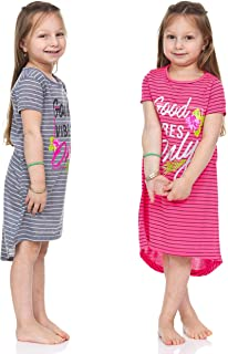 Girls Active Printed Glitter Dresses 2 Piece Set