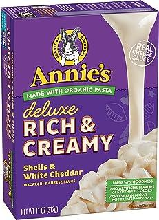 Annie's Deluxe Rich & Creamy Shells & White Cheddar Macaroni & Cheese Sauce, 11 oz