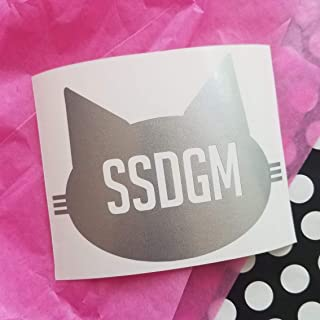 Favorite Murder SSDGM Silver flake Kitty cat Sticker murderino