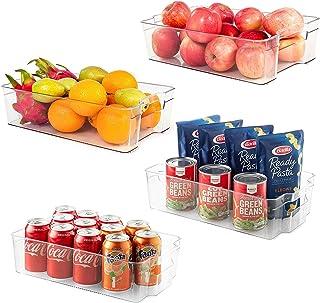 Wdmiya Ensemble de 4 Boîte de Rangement pour Frigo Boîte Alimentaire Panier et Boîte de Rangement pour Cuisine, Frigo, Con...