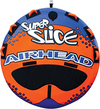 Airhead Super Slice | 1-3 Rider Towable Tube for Boating, Orange, Three person