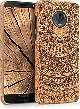 kwmobile Motorola Moto G6 Case - Protective Cork Cover for Motorola Moto G6 - Dark Brown/Light Brown