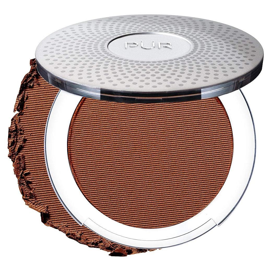 タイピスト基礎ヘロインPUR 4-in-1 Pressed Mineral Makeup Foundation- DEEPER