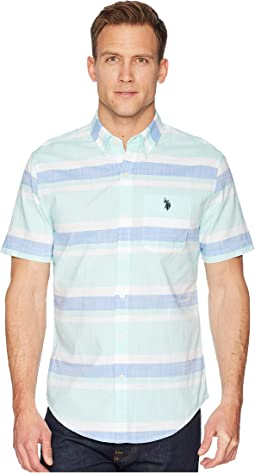 Short Sleeve Slim Fit Fancy Shirt
