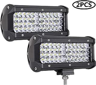 LED Pods, Auto Power Plus 2Pcs 7'' 144W LED Light Bar Off Road Lights LED Work Light Spot Driving Fog Lights Waterproof LED Bar for Truck Jeep Boat ATV UTV, 2 Years Warranty