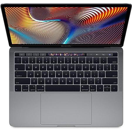 "Apple 13.3"" MacBook Pro with Touch Bar, Intel Core i5 Quad-Core, 8GB RAM, 256GB SSD, Intel Iris Plus Graphics 655 - Mid 2019, Space Gray U.S QWERTY Keyboard (Reacondicionado)"