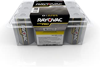 Rayovac Batteries ALD-12PPJ UltraPro Industrial Alkaline Battery, D Size, Standard, Black (Pack of 12)
