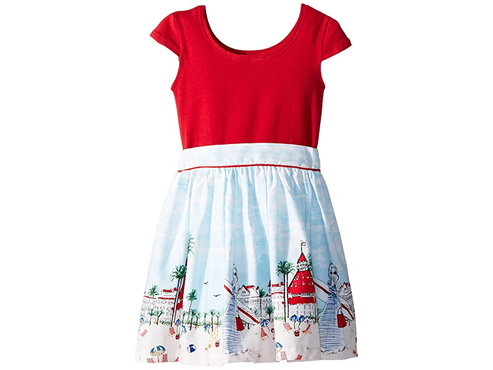 fiveloaves twofish Just Shellin Abbie Dress (Toddler/Little Kids/Big Kids) (Red) Girl