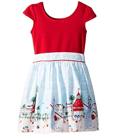 fiveloaves twofish Just Shellin Abbie Dress (Toddler/Little Kids/Big Kids) (Red) Girl