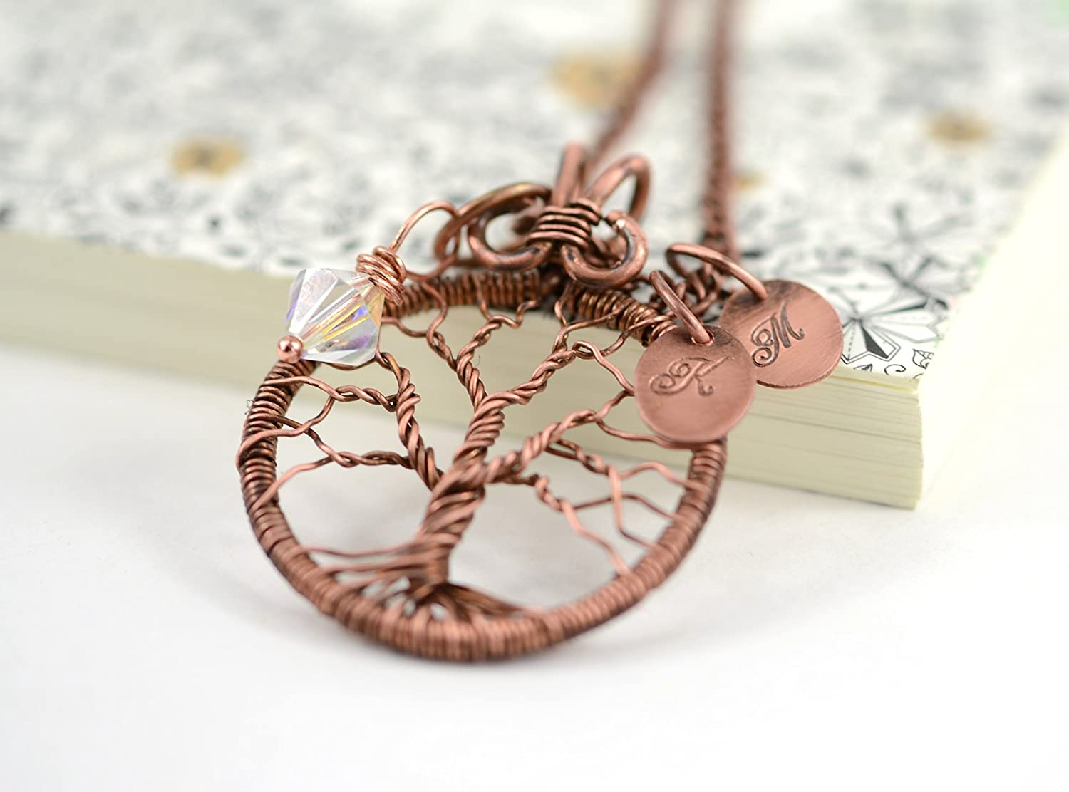 Personalized Family Denver Mall Tree Necklace Initial High material W Pendant Of Life