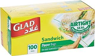Glad® Zipper Food Storage Sandwich Bags - 100 Count