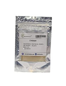MarkNature Pure Chitosan Powder, Food Grade, DAC 90%, 50g (High Density)