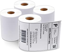 """Aegis - Compatible 1744907 (4"""" X 6"""") Direct Thermal Labels Replacement for DYMO 1744907 Shipping - for Rollo, Labelwriter 4XL, Zebra Desktop Printers 4"""" Wide (4 Rolls)"""