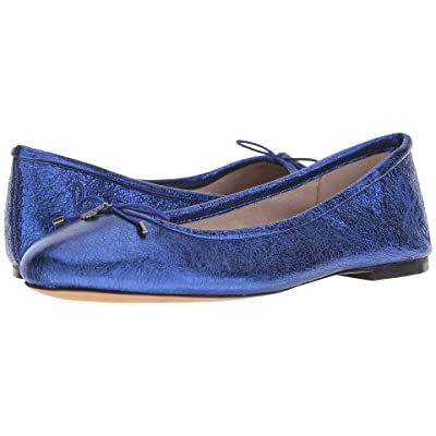 Sam Edelman Felicia (Royal Blue Soft Crinkle Metallic Leather) Women