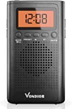 Pocket Radios with Best Reception AM FM. Pocket Radio Player Operated by 2 AAA Battery,..