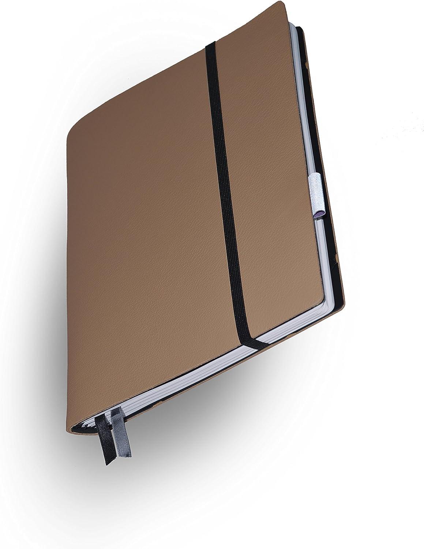 Weißbook Soft S209-SL, modulares Notizbuch, Veaux Prestige, geschnitten, Cafe_ au Lait, 240 S. Papier FSC (iPad Air & Samsung Tab 9.7  integrierbar, Inhaltshefte nachfüllbar) B00NZ3EKFU     Für Ihre Wahl