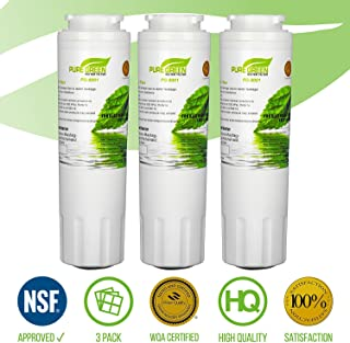 Pure Green Water Filter PG-8001 NSF Certified | Maytag UKF8001 Refrigerator Water Filter, Lead Free | 3 Pack, 3 Count