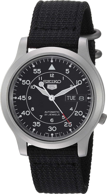 Amazon.com: SEIKO Men's SNK809 SEIKO 5 Automatic Stainless Steel Watch with Black  Canvas Strap : Seiko: Clothing, Shoes & Jewelry