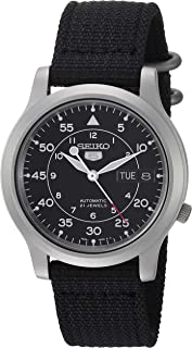 Men's SNK809 Seiko 5 Automatic Stainless Steel Watch with...