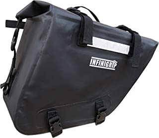 Motorcycle Saddlebags by INFINIGRIP - 100% Waterproof Luggage - Two Dry Tail Bags for Adventure Riding - Universal Fit