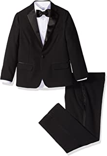 IZOD Boys' 4-Piece Formal Tuxedo Set with Jacket, Pants, Shirt, and Bow Tie
