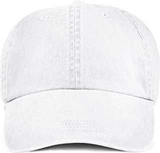 Anvil Solid Low Profile Pigment Dyed Twill Cap (White) (ONE)