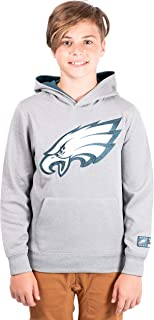 Ultra Game NFL Boys Extra Soft Poly Dry Fleece Pullover Hoodie Sweatshirt with Mesh Applique