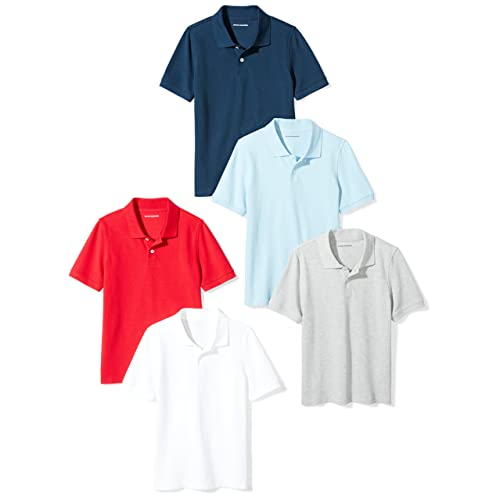 Amazon Essentials Boys  Short-Sleeve Uniform Pique Polo 31828e5aa