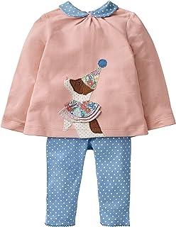 Fiream Girls Cotton Cute Print Long Sleeve Clothing Set Blue