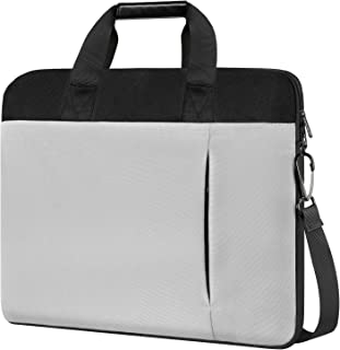 17.3 Inch Laptop Case Bag, Slim Waterproof Laptops Sleeve for Men Women, Business Lightweight Laptop Shoulder Bags Compatible for 17&17.3 Inch HP Dell Lenovo Asus Notebook, Gray
