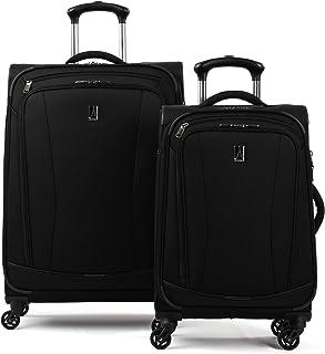 TourGo Softside Lightweight 2-Piece Luggage Set, Black,...