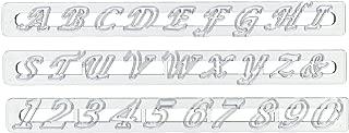 FMM Upper Case Script Alphabet & Number Tappit Cutters Set