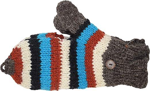 Gheri Guantes convertibles sin dedos de lana de punto polar