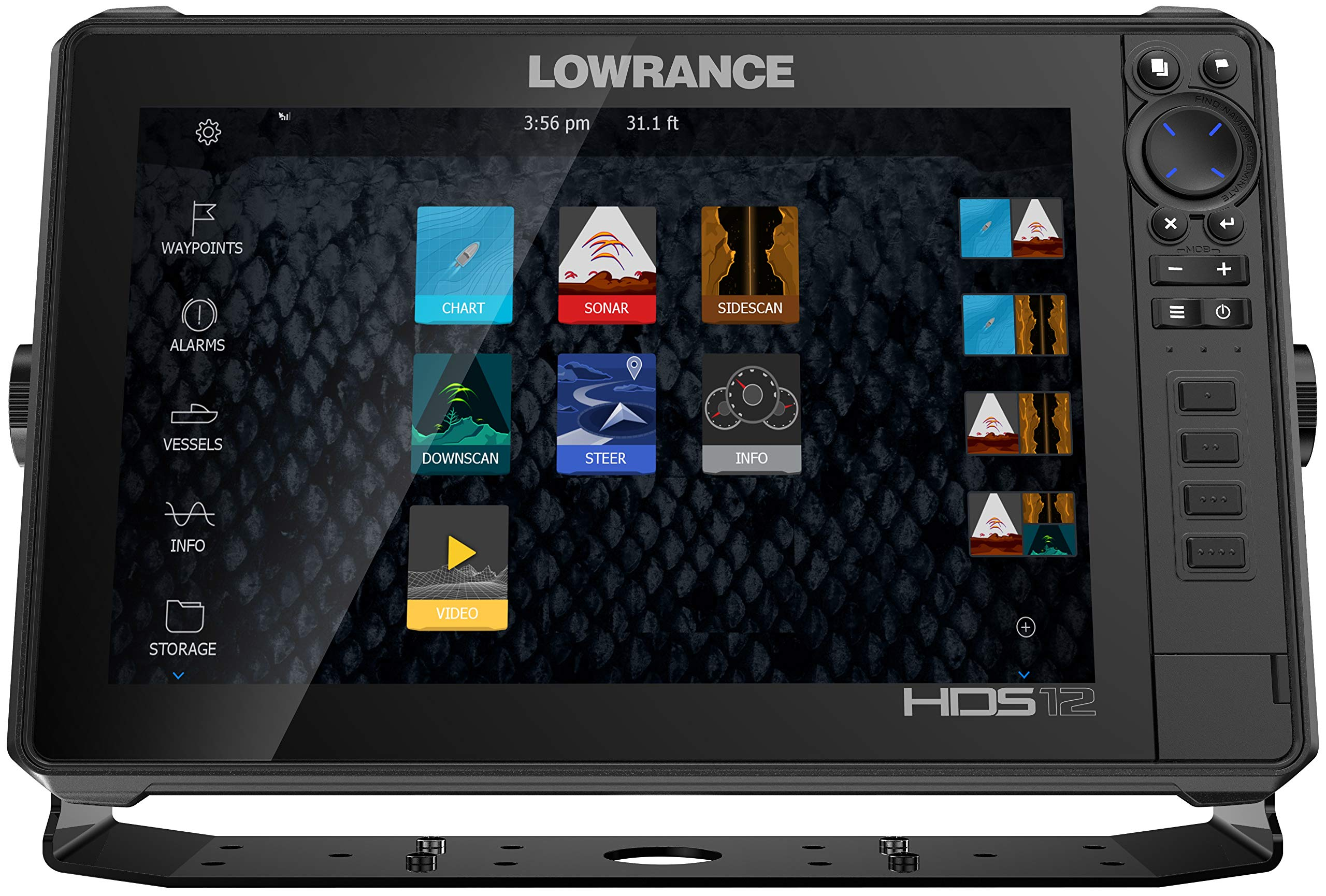 Lowrance HDS-12 Live with Active Imaging Transductor de montaje 3 ...