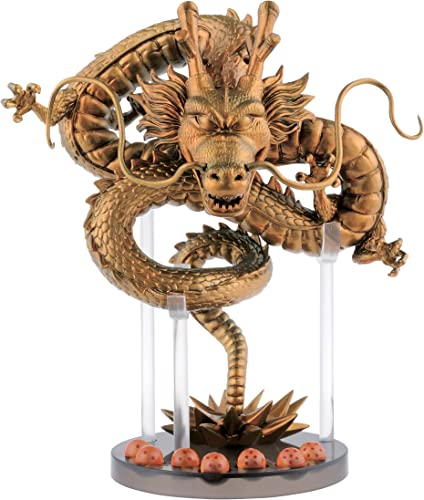 Banpresto - Figurine Dragon Ball Z - Shenron Gold et Dragon Balls Mega WCF 15cm - 0761568292541